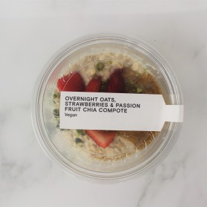 Overnight Oats, Strawberries & Passionfruit Chia Compote
