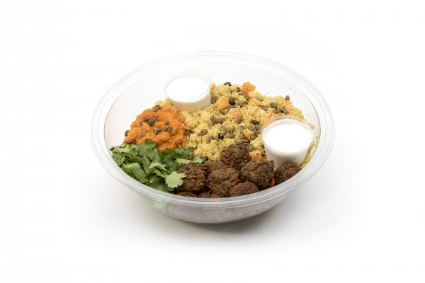 Lamb & beef kofta & winter veg couscous bowl