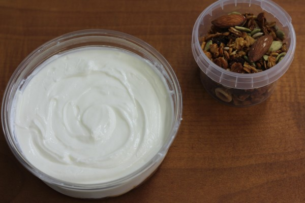 Greek yoghurt with spiced fruit compote and granola