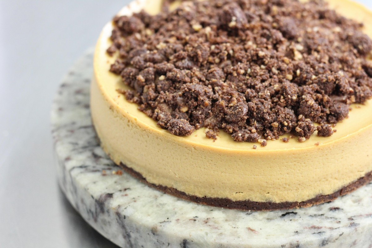 Dark muscovado cheesecake