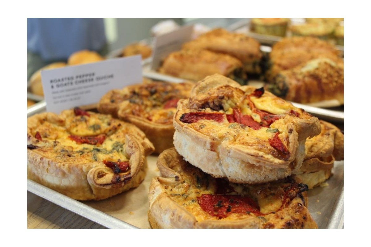Roasted Pepper & Goat's Cheese Quiche