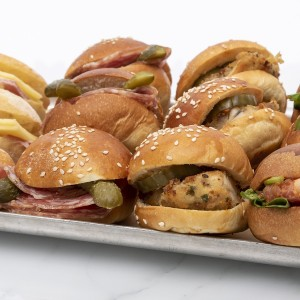 12 mini meat sandwiches