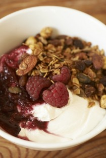 Greek yoghurt with fruit compote & granola