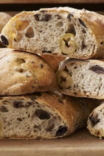 Mixed olive sourdough